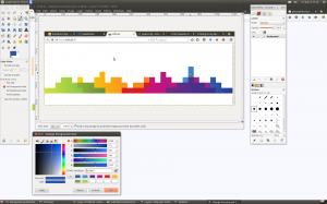 Gimp color picker